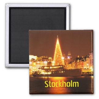Íman Éstocolmo, suecia no Natal na noite