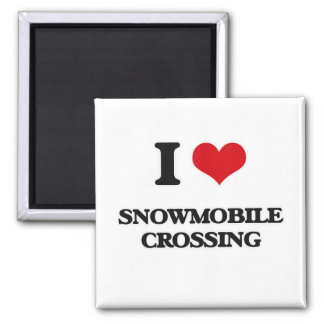 Íman Eu amo o cruzamento do Snowmobile