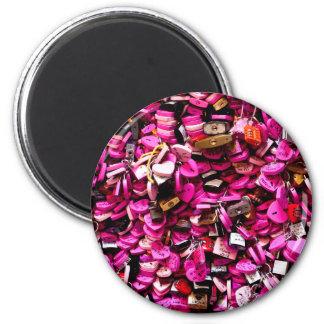 Íman Fechamentos cor-de-rosa do coração
