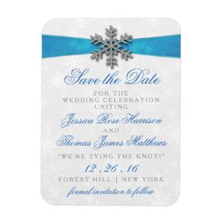 Íman Floco de neve de Diamante & casamento no inverno
