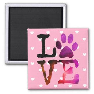 Íman Gato do amor do coração ou ímã cor-de-rosa do