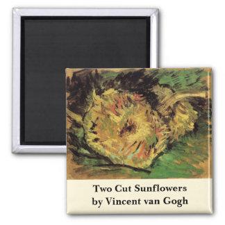 Íman Girassóis cortados de Van Gogh 2, belas artes