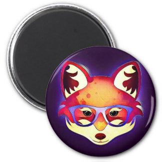 Íman Hipster Fox Magnet #1