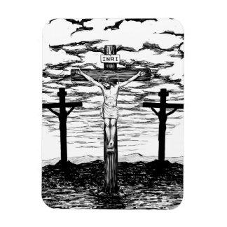Íman Ilustração da crucificação por Amanda Diehl
