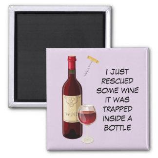 Íman Ilustração da garrafa e do vidro de vinho