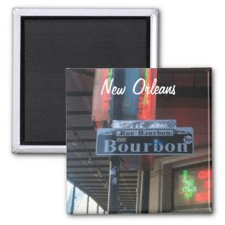 Íman Ímã da rua de Nova Orleães Louisiana Bourbon