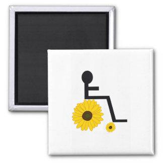 Íman Ímã do girassol da cadeira de rodas