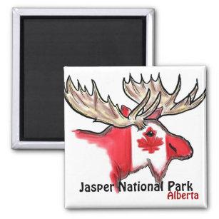 Íman Ímã dos alces de Alberta Canadá do parque nacio