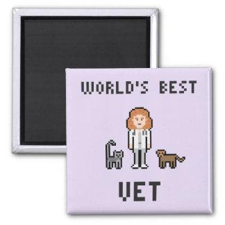 Íman Ímã fêmea do veterinário do mundo do pixel o