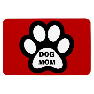 Íman Ímã flexível do impressão da pata da mamã do cão