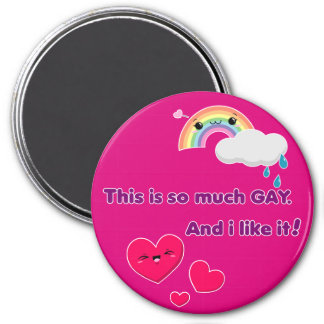 Íman Ímã Gay. Like it! - Pink