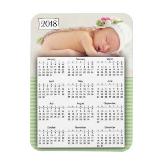 Íman Ímã personalizado 2018 calendários da foto do bebê