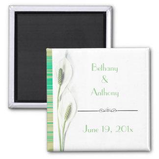 Íman Lembrança elegante do casamento do lírio verde e