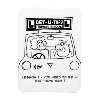 Íman Lição de condução - aluno no assento errado