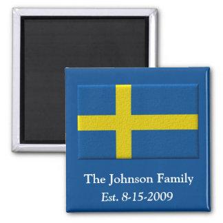 Íman Nome e data suecos de família da bandeira