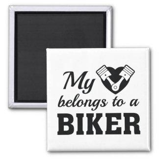 Íman O coração pertence motociclista