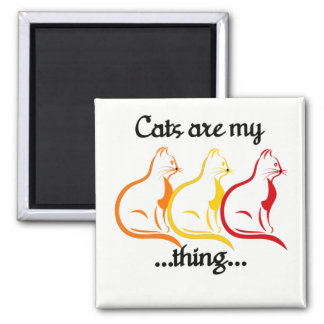Íman Os Gatinhos-Gatos de assento graciosos são minha