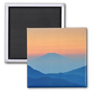 Íman Paisagem do abstrato da montanha do por do sol