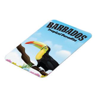 Íman Poster de viagens tropical do paraíso de Barbados