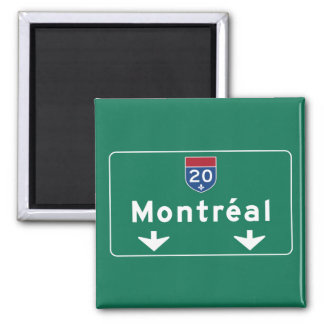 Íman Sinal de estrada de Montreal, Canadá
