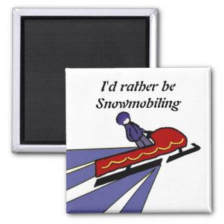Íman Snowmobile dos desenhos animados com dizer