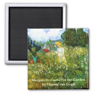 Íman Van Gogh; Marguerite Gachet no jardim, arte do