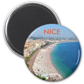 Íman Vista aérea da praia em agradável, France