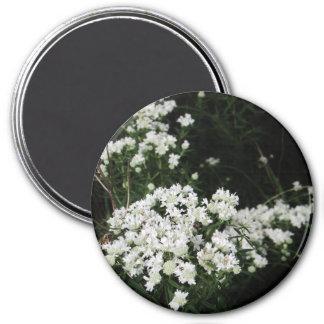 Íman Wildflower branco bonito