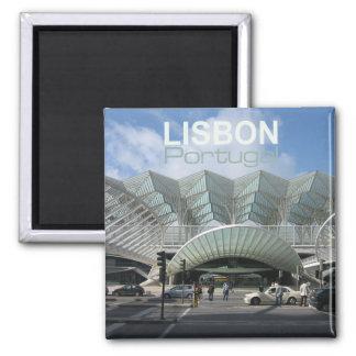 Imãs de geladeira da lembrança do viagem de Lisboa Ímã Quadrado