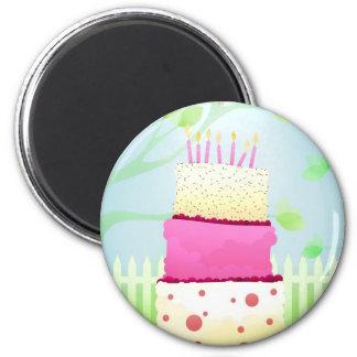 Ímãs do bolo de aniversário ímã redondo 5.08cm