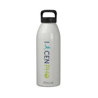 Imbecil claro da sede do trilho garrafas de água esportivas
