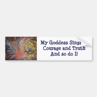 IMG_0145, minha deusa canta da coragem e da verdad Adesivo Para Carro