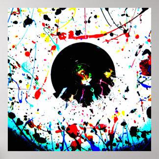 Impacto abstrato da pintura poster