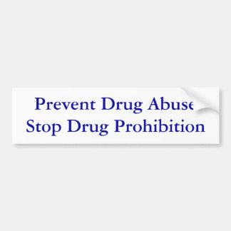 Impeça a proibição da droga da parada do abuso de  adesivo para carro
