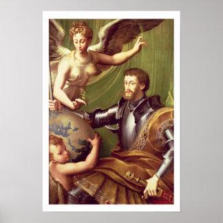 Imperador Charles V (1500-58) que recebem o mundo, Pôsteres