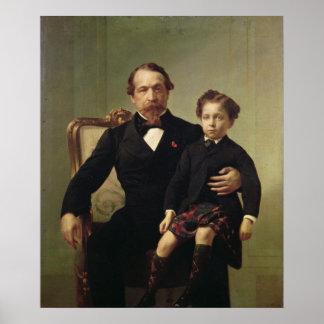 Imperador Louis-Napoleon Bonaparte e seu filho Poster