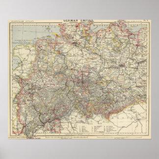 Império alemão noroeste pôster