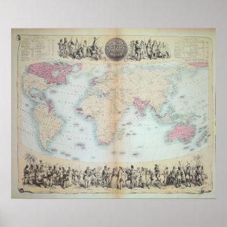 Império Britânico no mundo inteiro Pôster