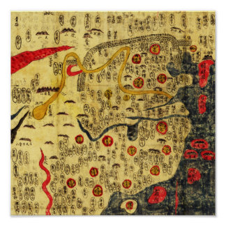Império de Ming, ChinaPanoramic MapChina Poster