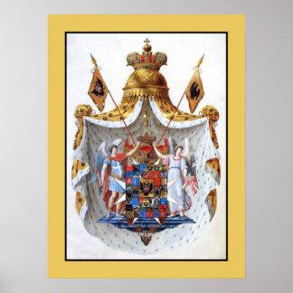 Império de russo, brasão completa pôsteres