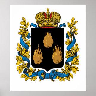 Império de russo do Governorate de Baku Impressão