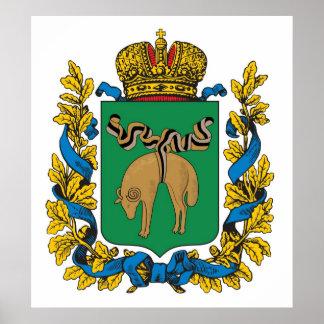 Império de russo do Governorate de Kutaisi Posters