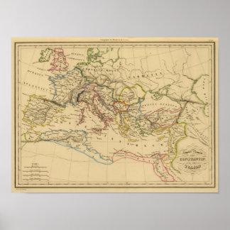 Império romano sob Constantim e Trajan Poster