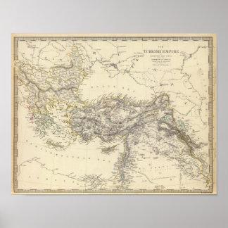 Império turco, piscina pôster