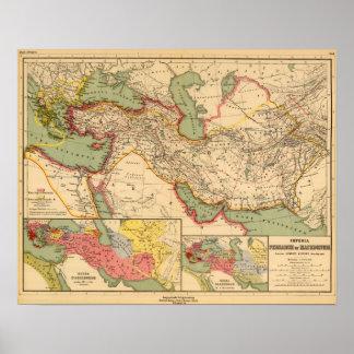 Impérios antigos dos persas, macedónios do mundo poster