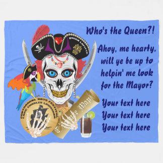 Importante da rainha do pirata lido sobre o design cobertor de lã