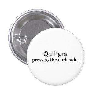 Imprensa de Quilters ao lado escuro Bóton Redondo 2.54cm