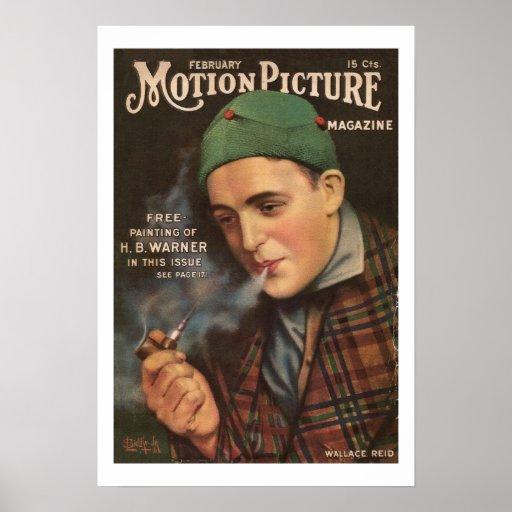 Impressão 1917 do compartimento do filme do vintag