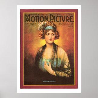 Impressão 1919 do compartimento do filme do vintag