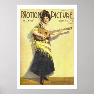 Impressão 1920 do compartimento do filme do vintag